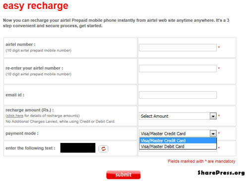 Now recharge Airtel Prepaid mobile phone instantly from ...
