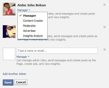 how to become admin of a facebook page